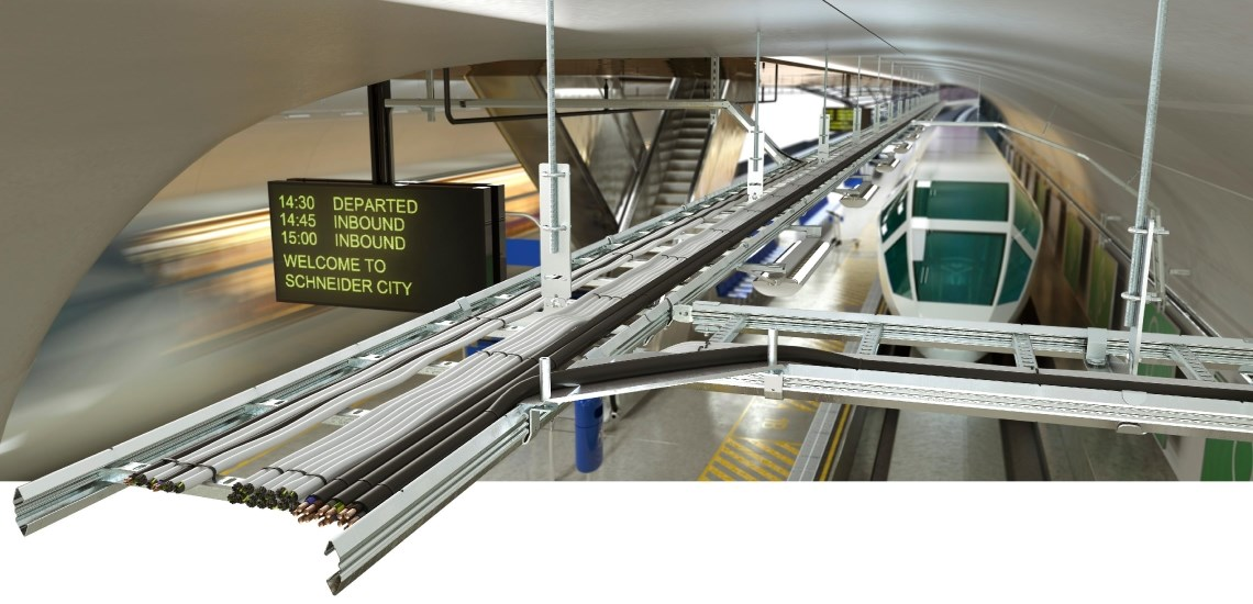 Configuration of cable ladders at Schneider Electric